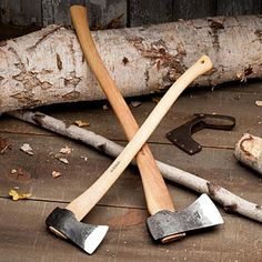 Wetterlings Chopping Axes.   For Felling Trees and Limbing Logs.  Well-dimensioned and finely balanced.