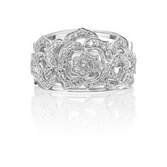 Diamond 0.57ct Floral Gold Dress Ring