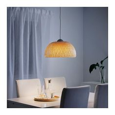 BÖJA Pendant lamp IKEA Each handmade shade is unique. Gives a soft glowing light, that gives your home a warm and welcoming atmosphere.