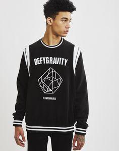Eleven Paris Defy Gravity Sweatshirt Black | Shop men's clothing at The Idle Man Eleven Paris, Men's Clothing, Contemporary Style, Parisian, Graphic Sweatshirt, Man Shop, Sweatshirts, Sweaters, Mens Tops
