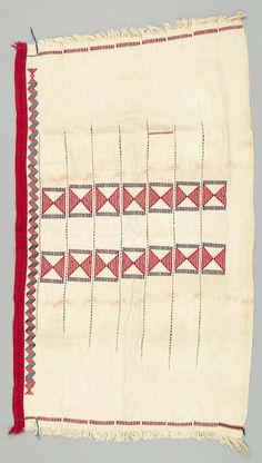 Africa | Baby carrier from the Ewe people of Northern Ghana | Cotton | ca. 1950 - 1970 - Actually not a baby carrier - these cloths were worn by girls at a coming of age ceremony.