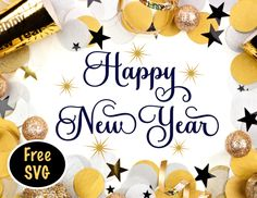 Happy New Year & Free SVG File