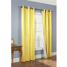 Thermalogic Weathermate Insulated Grommets Cotton Curtain Panels 80 x 63 yellow * Check this awesome product by going to the link at the image. (This is an affiliate link and I receive a commission for the sales)