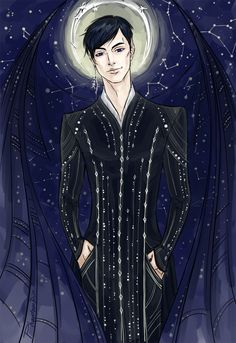 Seriously STUNNING illustration of Rhys by PhantomRin on tumblr!