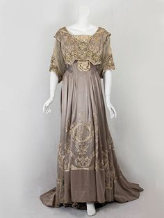 Callot Souers dinner dress of hand~embroidered silk charmeuse ~ 1905