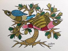 The Gond art form is a celebration of the Gond community. It takes inspiration from nature, Gods and the wildlife and create magic on walls and on canvas. Gond Painting, Artist Painting, Art Forms Of India, Tribal Community, Craft Museum, Indian Folk Art, Indian Crafts, Easy Paintings, Simple Art