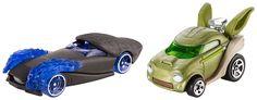 Hot Wheels Star Wars Character Car 2-Pack, Emperor Palpatine vs. Yoda