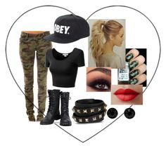 """""""Camo"""" by avaamlong ❤ liked on Polyvore featuring Tripp, Nature Breeze, OBEY Clothing, Valentino, J.TOMSON, LORAC and Givenchy"""