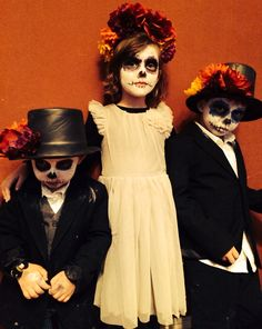 Halloween Day of the Dead kids' costumes