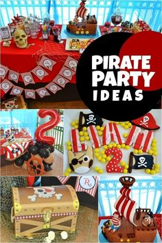boy pirate birthday party ideas www.spaceshipsandlaserbeams.com
