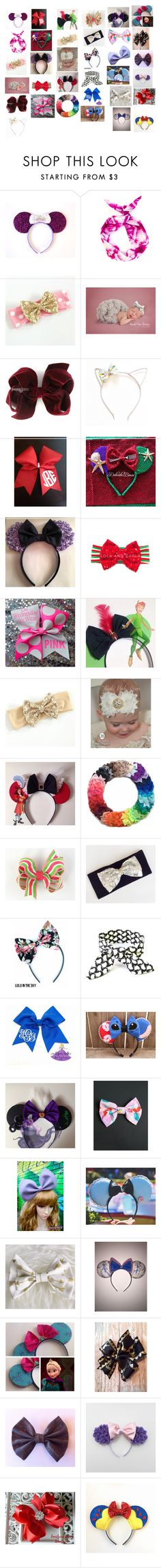 """""""You're never too old to wear a bow"""" by silentpoetgeek ❤ liked on Polyvore featuring beauty and Disney"""