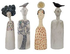 Love these Jane Muir ceramic 'people' junkgarden: decorating