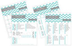 chevron custom planning printables - household binder - monthly calendar - meal planner - grocery list - weekly cleaning list