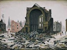St Augustine's Church, Manchester, 1945 by L.S. Lowry (1887–1976)