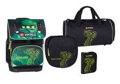 Super cool Lego Small skoletaskesæt 0-2 klasse, ninjago lloyd/green Lego  til Rygsække til enhver anledning