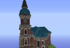 Medieval spearman statue grabcraft your number one source for schelfkirche church grabcraft your number one source for minecraft buildings blueprints tips malvernweather Images