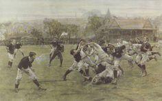 William Heysman Overend & Lionel Percy Smythe, A Football Match. England v Scotland, 1887