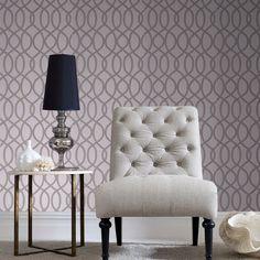Knightsbridge Flock Pale Grey Wallpaper