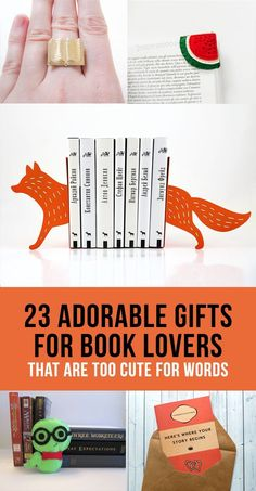 23 Adorable Gifts For Book Lovers That Are Too Cute For Words.the little book ring is adorable!