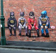 batmans & robin graffiti art