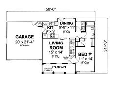 Farmhouse Traditional House Plan 66491 Level One