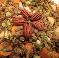 Lentil salad, a recipe from my upcoming cookbook, Gaia's Table