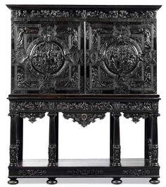 Style Louis XIII, Cabinet du marquis de Nonant, château de Beaumesnil, Mucuis et Porsenna,