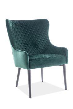 Fotoliul Colin F Velvet este un fotoliu tapitat cu catifea avand un design modern care iese in evidenta prin culorile sale. Fotoliu confortabil potrivit pentru interioarele moderne si clasice.  #fotoliu #verde #green #velvet #chair #inspohome #accent #chair #furniture #sofa #interior #design #ideas #homeinspiration #homedecorideas #home #details Accent Chairs, Interior, Furniture, Design, Home Decor, Green, Upholstered Chairs, Indoor, Interiors