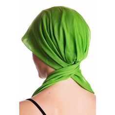 Organic Easy Tie Head Scarf - Apple Green - English