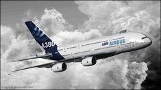 Airbus a380 aircraft aviation clouds wallpaper