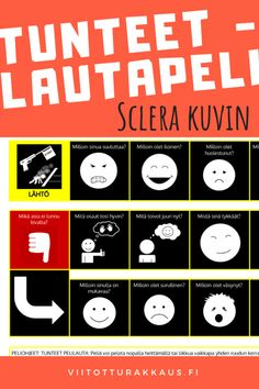 Tunteet -lautapeli Sclera kuvin - Viitottu Rakkaus Classroom Management, Emo, Playing Cards, Games, Playing Card Games, Emo Style, Gaming, Game Cards, Plays