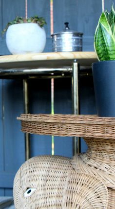 A modern tiki bar painted in Farrow and Ball studio green | Scotch and Nonsense