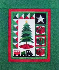 Trim The Tree II  Wall Hanging pattern by Cindi Edgerton as seen at Connect the Blocks