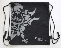 Clash of Kings Video Game Promo Gym Drawstring Sports Backpack Eagle Symbol #ClashofKings