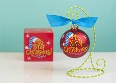 My First Christmas Blue Santa Hat Ornament | underthecarolinamoon.com #cotoncolor #cotoncolorschristmas #cotoncolorsornaments #utcm #underthecarolinamoon #christmasornament #myfirstchristmas