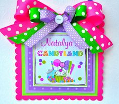 Candyland Door Sign Deluxe Welcome Sign por thepaperkingdom en Etsy