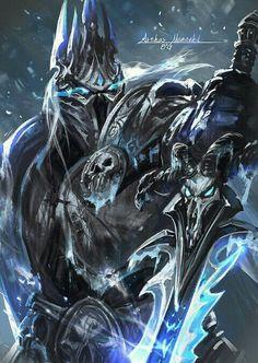 World of warcraft lich king ; world of warcraft lich könig ; world Warcraft Dota, Art Warcraft, World Of Warcraft 3, Warcraft Funny, Warcraft Heroes, Warcraft Characters, Fantasy Characters, Dark Fantasy Art, Fantasy Artwork