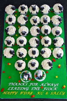 Celebrate with Cake!: Sheep Cupcakes                                                                                                                                                                                 More