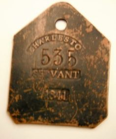 18th century charleston | Art and Antiques: Dark history told through slave tags - News ...
