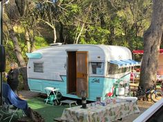 campground back in the day our friends had this ...we slept in a tent.  Fun times!!