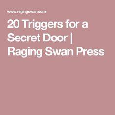 20 Triggers for a Secret Door | Raging Swan Press
