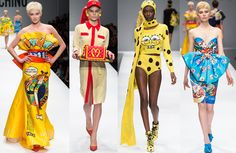 f3c17a3346c1 Campy style on the runway. Jeremy Scott s first collection for Moschino is a  great example