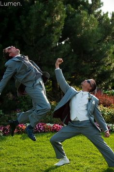 My Husband and his best man. :) Funny wedding photo ideas.  Evan Uribe did a fantastic job.                                                                                                                                                                                 More