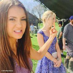 The Vampire Diaries | Behind the scenes of Alaric and Jo's wedding with Nina Dobrev and Candice Accola