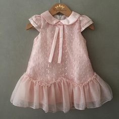 Awesome 48 Wonderful Dresses Ideas For Kids That Looks Cool Kids Party Wear Dresses, Cute Girl Dresses, Toddler Girl Dresses, Little Girl Dresses, Fashion Kids, Baby Girl Fashion, Toddler Fashion, Dress Anak, Kids Fashion