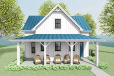 Small Cottage Homes, Cottage House Plans, Small House Plans, Farm House, The Doors, Little Houses, Small Houses, Small Cottages, Farmhouse Plans