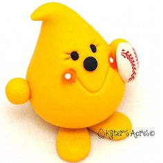 BASEBALL PARKER  Sports Series  Polymer Clay Collectible Figurine by KatersAcres