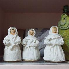 #вот такие русские красавицы были сделаны у нас в студии на мк Леночки Васько. Все куклы из ваты!!! Они не только красивые, но и прочные!!! А в след.воскресенье их будут раскрашивать. Обязательно покажем результат!!!#серебряныйлебедь #студия #ватныеигрушки#