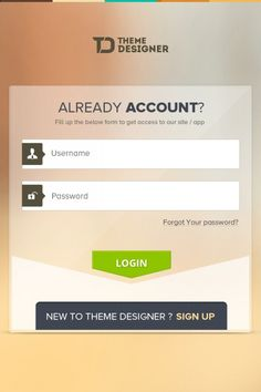 #Login Screen for #Mobile #App, #Buttons, #Free, #PSD, #Resource
