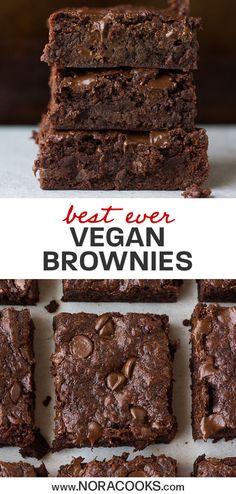 No Dairy Recipes, Vegan Dessert Recipes, Brownie Recipes, Gourmet Recipes, Whole Food Recipes, Recipes Dinner, Quick Vegan Desserts, Non Dairy Desserts, Whole Food Desserts